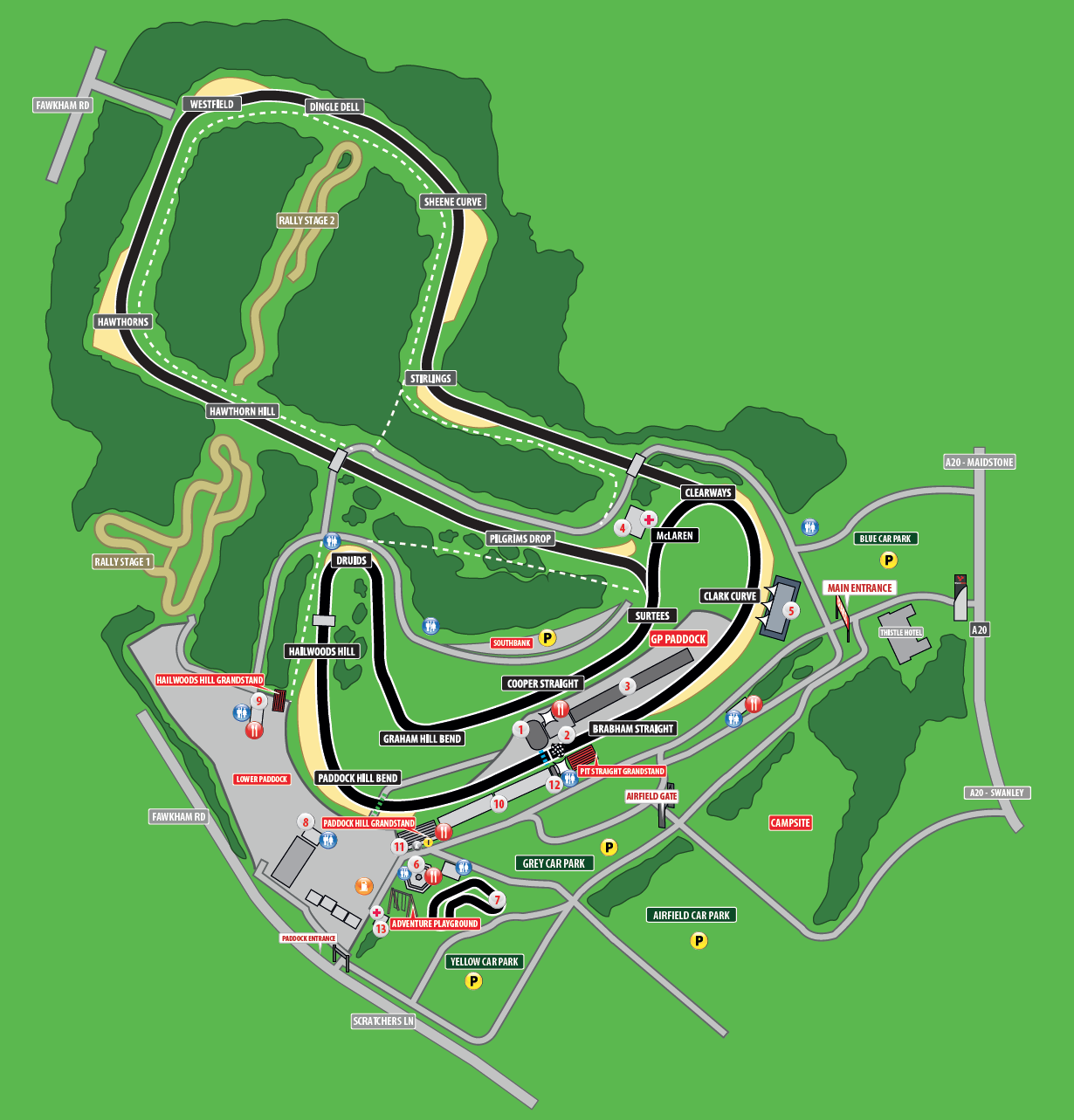 Brands Hatch Indy circuit plan