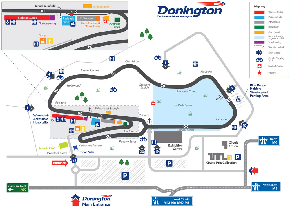 Donington Park National circuit plan
